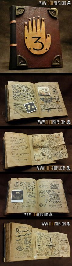Journal 3 replica from Gravity Falls. More details on the contruction at: http://elderprops.tumblr.com                                                                                                                                                                                 Mais