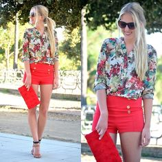 Red and flowers (by Marta M) http://lookbook.nu/look/3709125-Red-and-flowers