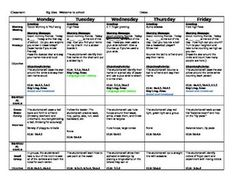 Weekly Preschool Lesson Plan Template   Classroom Organization ...