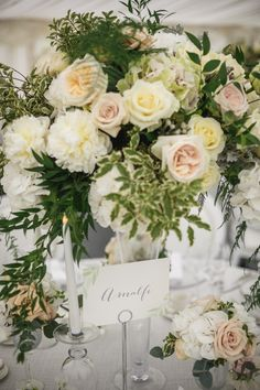 Classical English wedding at the beautiful Le Talbooth Marquee in Dedham, Essex. Marquee Wedding, Wedding Gallery, Special Day, Wedding Planner, Wedding Flowers, Table Decorations, Flower Ideas, English, Beautiful