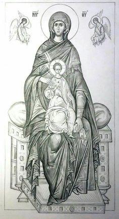 Icon Religious Images, Religious Icons, Religious Art, Christian Drawings, Christian Art, Byzantine Icons, Byzantine Art, Paint Icon, Jesus Christ Images