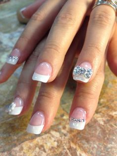 """Wedding is a very important phase in a girl's life. So every girl wants to look perfect from top to bottom on her wedding day. Now days nail art become significant part of dressing so it should be on the top of your wedding list. White is royal choice for wedding with different patterns like … Continue reading """"84 Attractive Wedding Nail Art Design Ideas For Brides"""""""