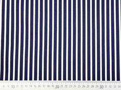 Baumwollsatin Streifen längs dunkelblau weiß Dark Blue, Darkness, Stripes, Cotton