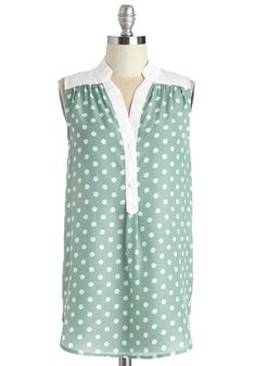 Magnificent Memories Tunic. A bestie get-together is always a great for story swapping - effortlessly reminisce in this mint, ModCloth-exclusive tunic from Myrtlewood! #mint #modcloth