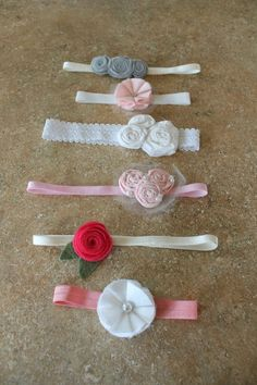 Adorable baby headbands that match almost any outfit. DIY