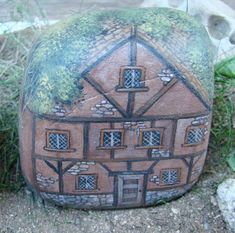 HOUSE FOR SALE- Hand painted rock house...This painted Rock is beautiful and amazing!!