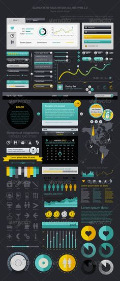 Elements of Infographics with buttons and menus  #frame #bar #abstract • Click here to download ! http://graphicriver.net/item/elements-of-infographics-with-buttons-and-menus-/1193903?s_rank=337&ref=pxcr