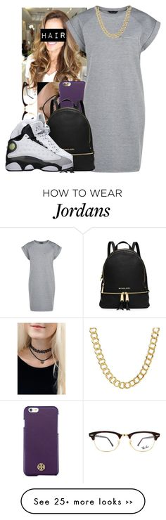 """""""which shoes? 5's or 13's"""" by camsxbae on Polyvore featuring Ray-Ban, Tory Burch, Michael Kors and Coach"""