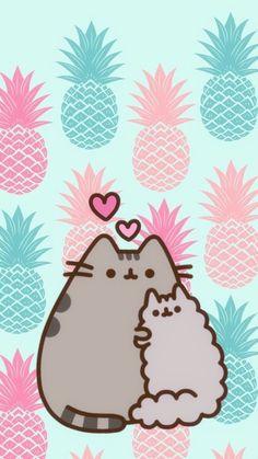 Pusheen & Stormy summer, Pineapple and cute wallpaper Kawaii! _____________________________________________________________________ This wallpaper is so cute, it just brings my feelings to summer! Kawaii Wallpaper, Cat Wallpaper, Wallpaper Iphone Cute, Wallpaper Wallpapers, Iphone Wallpapers, Gato Pusheen, Pusheen Love, Kawaii Drawings, Cute Drawings