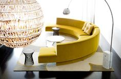 Yellow Modern Round Sofa