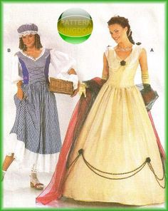 Renaissance Court Empress & Washerwoman Patterns
