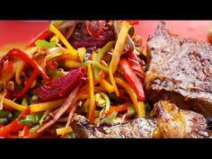 Entrañas a la chapa con vegetales salteados y alioli - YouTube