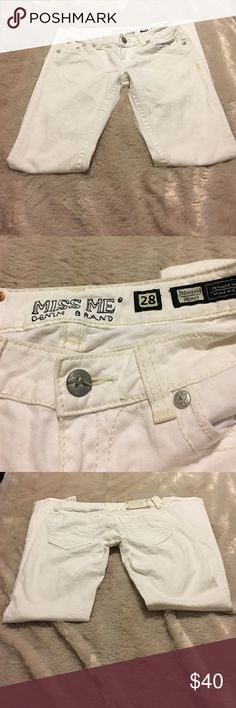 Miss Me Size 28 White Skinny Jeans Excellent Condition. Size 28 Inseam 32. Miss Me Jeans Skinny