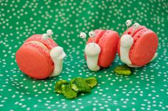 Cute snail macarons