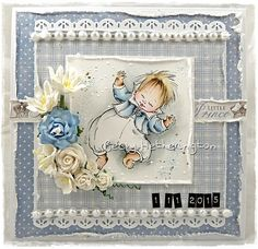 Hello everyone, I'm here today with a card that I have made with an image from Mo Manning and goodies from Wild Orchid Crafts. Baby Barn, Penny Black Cards, Mo Manning, Wild Orchid, Some Cards, Kids Cards, Hello Everyone, Homemade Cards, Cardmaking