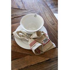 Kitchen Classic Napkin Red Stripe Border - Coming Soon | Rivièra Maison