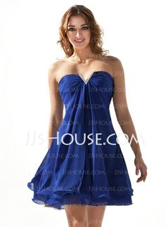 Homecoming Dresses - $89.99 - A-Line/Princess Sweetheart Short/Mini Chiffon Homecoming Dresses With Ruffle Beading (022020616) http://jjshouse.com/A-Line-Princess-Sweetheart-Short-Mini-Chiffon-Homecoming-Dresses-With-Ruffle-Beading-022020616-g20616
