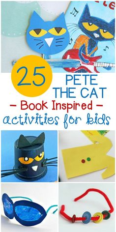 Pete the Cat Activities and Crafts Kids Will Love! Pete the Cat Activities and Crafts Kids Will Love!,Craftivity These Pete the Cat activities and crafts are great to pair with some of your favorite. Farm Animal Crafts, Cat Crafts, Book Crafts, Alphabet Crafts, Farm Animals, Library Activities, Fun Activities For Kids, Indoor Activities, Character Activities