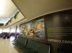 Cameco Airport Mural German, Deutsch, German Language