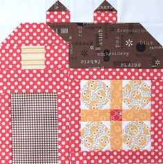 Good Morning cute peoples!!!   It's time for Barn #9 in the   Quilty Barn Along   This barn features 2 of my favorite colors...   red ...