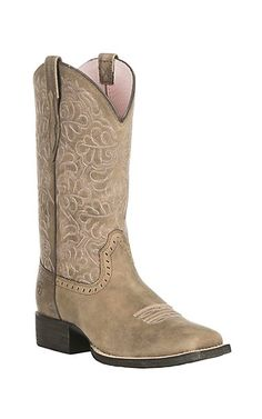 Ariat Women's Round Up Remuda Tan Western Square Toe Boots | Cavender's