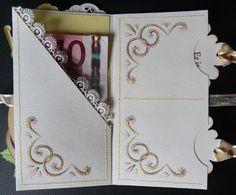 """Creaties met Papicolor papier: Label """"geld"""" Kaart."""