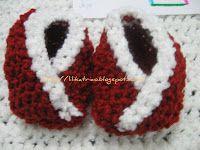 ** BLOG LILIKA TRICÔ - KNITTING **: Sapatinhos quimono/Chaussons mignons/Sapatinhos cr..., knitting, tricô, tricot, receita de tricô, sapatinho de tricô, knitting pattern