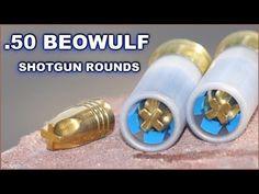 Beowulf Bullets Shot from a 12 ga. Weapons Guns, Guns And Ammo, 50 Beowulf, Shotgun Slug, Bushcraft, Reloading Ammo, Tactical Shotgun, Firearms, Shotguns