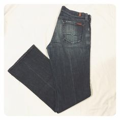 """7 for all mankind bootcut jeans Size 30, worn just a few times, beautiful condition, dark wash, boot cut, 32"""" inseam 7 for all Mankind Jeans Boot Cut"""