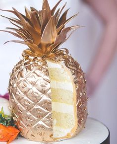 gold pineapple cake is a treat