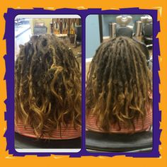 Before & After  #dreads #dreadlockmaintenance #caucasiandreadlocks