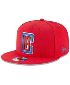 f1d1d43eb9cb8 New Era Los Angeles Clippers Team Metallic 9FIFTY Snapback Cap - Red  Adjustable