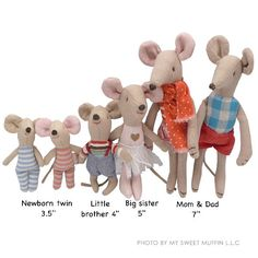 Maileg Mouse family