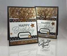Tarnished Foil,Wendy Lee, Stampin Up, masculine birthday card, birthday blast stamp set,star blast edgelits, haxagon dynamic embossing folder,