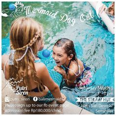Join #ClearOcean's @jomarlston and the @putri_siren ladies this #Saturday for a #mermaid say out in #Seminyak. See you there!!
