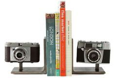 Awesome vintage camera book ends!