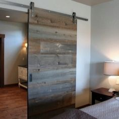 Reclaimed wood door - would love to incorporate this somewhere - maybe master bath
