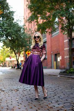 Top: J Brand via Neiman Marcus. Skirt: Tibi. Sunglasses: Karen Walker 'Super Duper'. Shoes: Valentino (love the flats here as well). Purse: ...