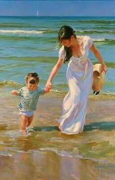 At the beach palette knife oil painting /Vladimir volegov painting recr. Figure Painting, Painting & Drawing, Woman Painting, Artist Painting, Beach Art, Beautiful Paintings, Oeuvre D'art, Love Art, Female Art