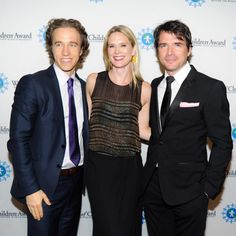 Craig Kielburger from Free The Children with actress Stephanie March and actor Matthew Settle