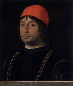 Lorenzo Costa, Giovanni II Bentivoglio, c. Bentivoglio was unofficial lord of Bologna and a participant in the 1502 conspiracy against Cesare Borgia.