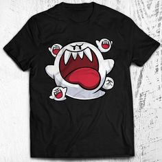 Super Mario Bros. Boo Unisex Video Game T-shirt by Nerdemia