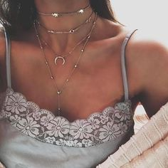 Long Tassel Moon Choker Necklace Accessories For Women Jewelry Three Layer Chokers Necklace Horn Pendant Bohemian Jewelry Multi Layer Necklace, Layered Chain Necklace, Long Pendant Necklace, Moon Necklace, Lariat Necklace, Crystal Necklace, Necklace Set, Chain Necklaces, Layered Necklaces Silver