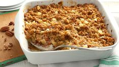 Easy Apple Crisp ~ Apple crisp comes together easily with this packaged oat bar mix. Make it a complete dessert by adding a scoop of vanilla ice cream or a dollop of whipped cream. Best Apple Desserts, Fall Desserts, Apple Recipes, Just Desserts, Fall Recipes, Dessert Recipes, Sweet Recipes, Apple Deserts, Fruit Recipes