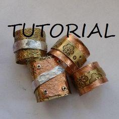 TUT RINGS on Handmade Artists' Shop #HAFshop #HAS #handmade #rings #jewelry #tutorial
