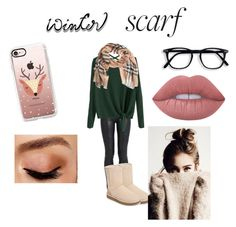"""""""winter scarf contest!"""" by purdy-coma on Polyvore featuring The Row, Burberry, UGG, Casetify, Avon and Lime Crime"""