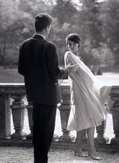 Alain Resnais and Delphine Seyrig rehearse a scene in Last Year at Marienbad (1961).