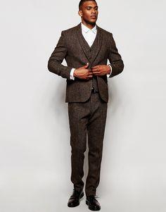 Image 4 ofASOS Slim Blazer In Harris Tweed