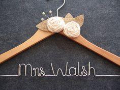 Rustic bridal hanger- darling shower gift!