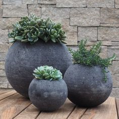 Lavastone Round Planter From RocknStone. Pinned To Garden Design   Pots  Planters By Darin Bradbury.